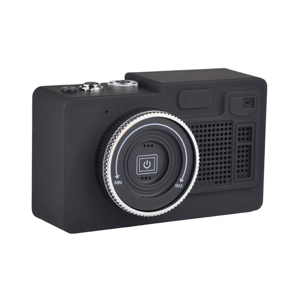2019 Retro Camera Bluetooth Speaker Portable Mini Wireless Speakers Support TF Card Playing FM Radio Hands-Free For PC Phones