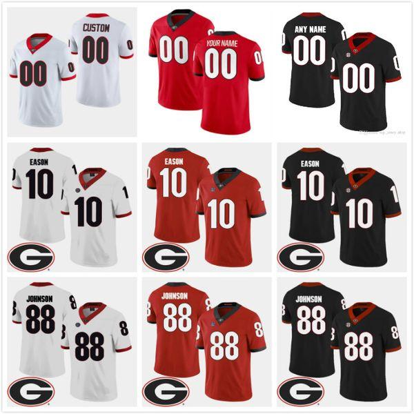 NCAA Men Custom Georgia bulldog Football Jersey White black red