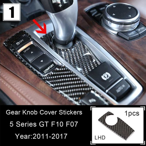 Carbon Fiber Gear Shift Cover Shifter Sticker For BMW F10 F07 F25 F26 X3 X4 5 GT