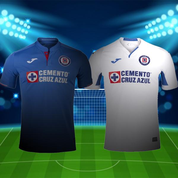 2019 2020 Mexico club Liga MX CDSC Thailand Cruz Azul joma Soccer jersey home blue camiseta away white football shirt camisetas de futbol
