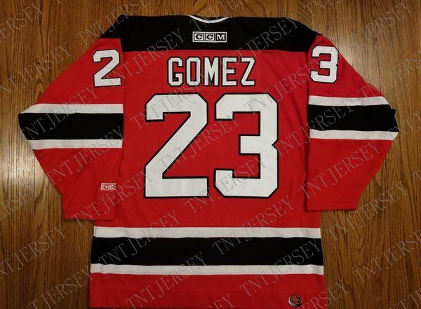 Cheap custom Scott Gomez Vintage New Jersey Devils CCM Hockey Jersey Stitched Retro Hockey Jersey XS-5XL