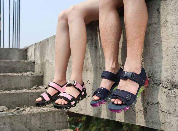 Mens Vapors Donna Unisex Sughero Infradito Sandali Sport estivi Moda scarpe in pelle Pantofole Fresco Pantofola Scarpe casual Sandalo eur36-45