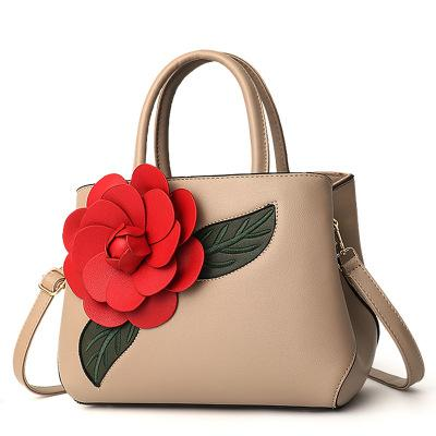 Women's bag Europe and America casual big bag fashion wild handbag tide rose shoulder Messenger bag