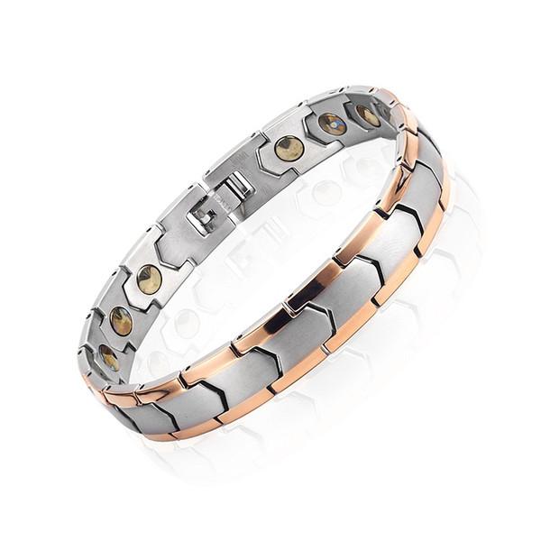 Healthy Magnetic Bracelet For Women men Power Germanium Magnets Bracelets Bangles For Men 316L Stainless Steel Magnetic Therapy Bracelet DHL