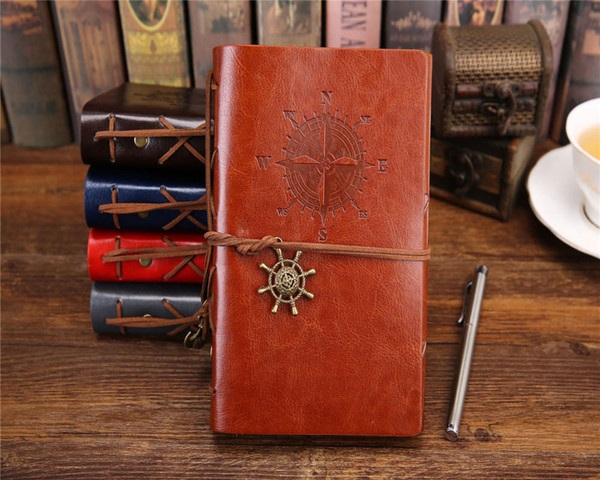 vintage garden travel diary books kraft papers journal notebook spiral Pirate notepads cheap school student classical books