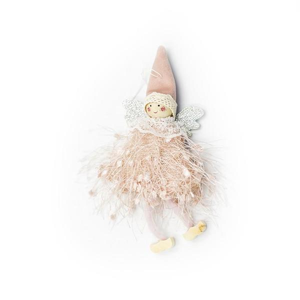 Creativo Piccolo Angolo Doll Christmas Tree Pendant di Natale blu / verde scuro / grigio / rosa / decorazione rossa / bianca