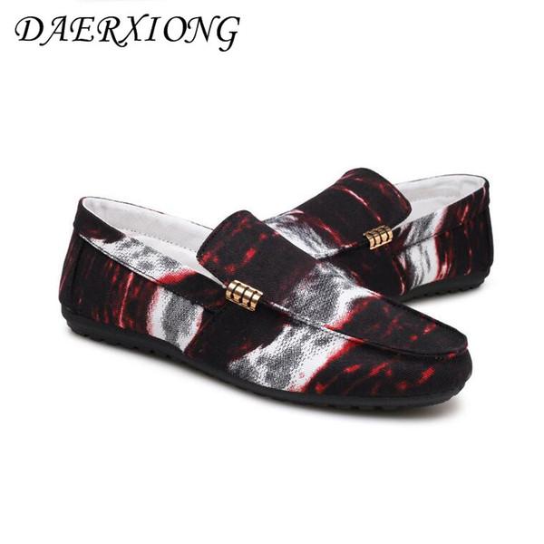 2019 Männer flache Schuhe Frühling Sommer Herren Müßiggänger Trend Bohne lässig Fahren Schuhe männlich atmungsaktiv Peking Leinwand Männer Mann