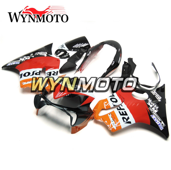 Complete Fairings For Honda CBR600F4i 2004 2005 2006 2007 CBR600 F4i Injection ABS Plastic Motorcycle Cowling Repsol Orange Red Black Hulls