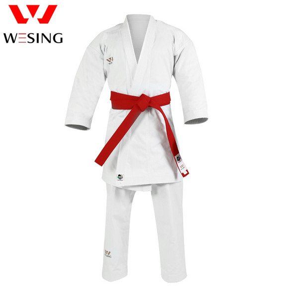 top popular WESING Karate kata Gi Unisex Karate Uniform with Belt Approved by WKF 2020