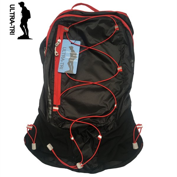 ULTRA-TRI Hydration Backpack Lightweight Trail Running Race Cycling Hiking Outdoor Sport Bag Pack Black 15L #86417