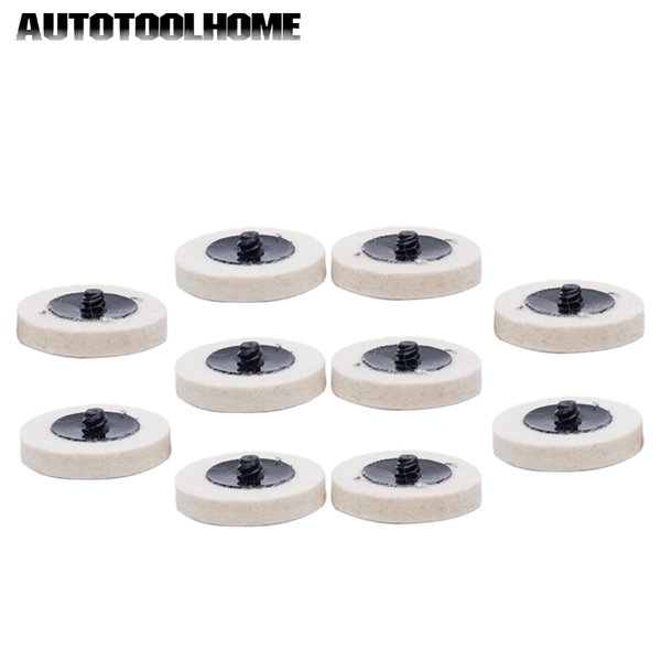 2 50mm Roloc Style Compressed Wool QC Disc Polishing Buffing Pads Wheels 10Pcs Automotive Care & Detailing