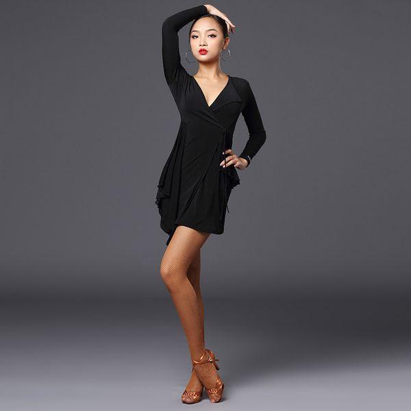 Latin dance practice dress female adult professional performance new Latin dance skirt dress set-A3200