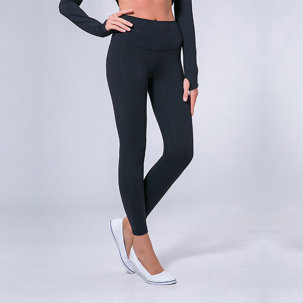 top popular L-32 Solid Color Women yoga pants High Waist Sports Gym Wear Leggings Elastic Fitness Lady Overall Full Tights Workout 2020