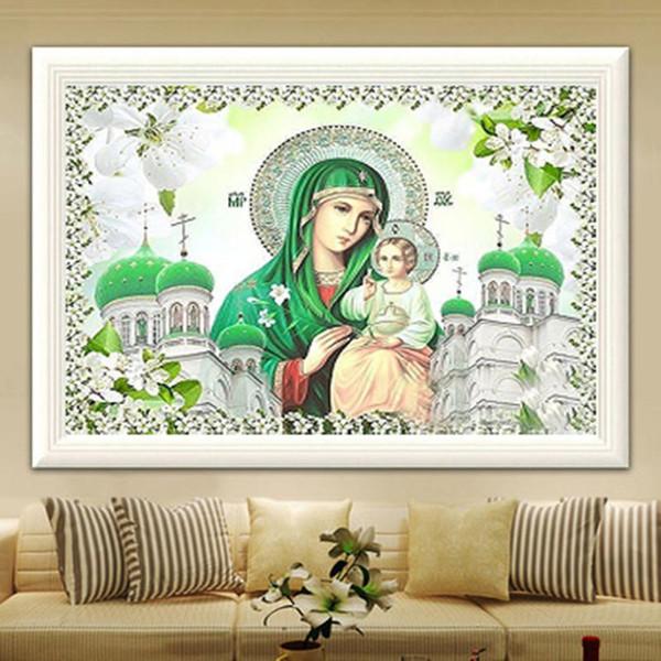 YGS-575 DIY 5D частичный Алмаз вышить монахиня круглый Алмаз живопись вышивки крестом наборы алмазная мозаика украшения дома