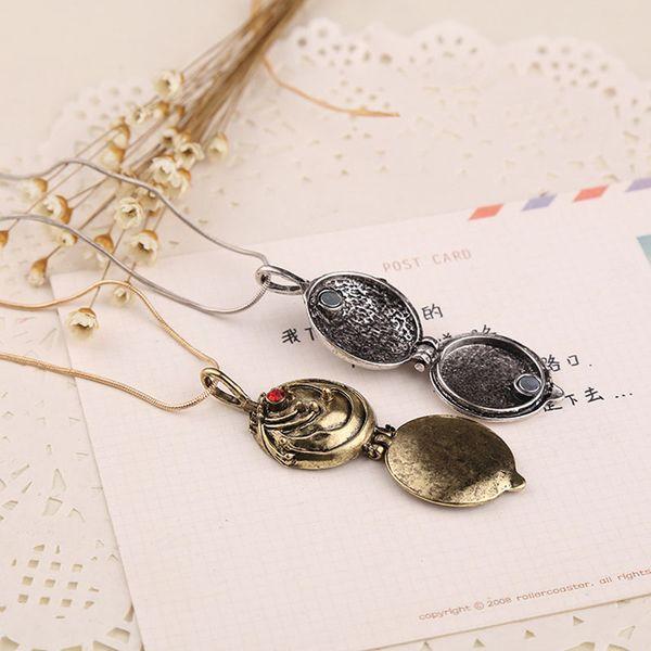 Vampire Diary Elena Vervain Box Lockets Pendant Necklaces Box pendant Gilbert Verbena Necklace movie jewelry bronze silver