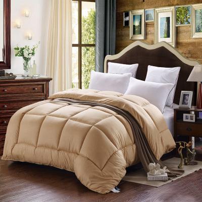 200 * 230 CM Reine Roi Taille Couette Douce Hiver Couverture Polyester Fibre Solide Couette D'hiver Couette Literie Textiles À La Maison