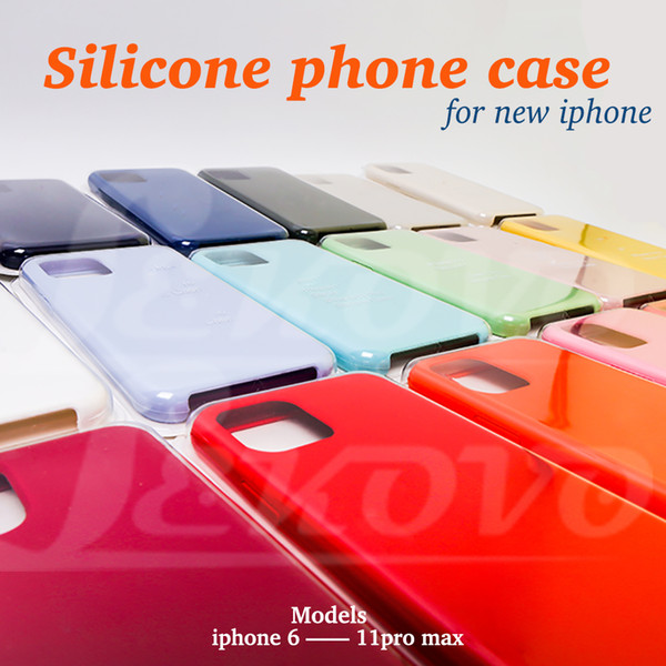 top popular High Qulity Silicone Case Have logo For iPhone 11pro  11 pro max 11   XR XS XSmax 8 8plus Samsung S9 S10 Optional With Retail Package 2020