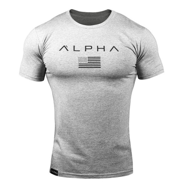 Fitness T-shirt for Men Summer Round Neck Letter Sports T Shirt Short-sleeved Letters Print Running Active Training Clothing Size M-2XL
