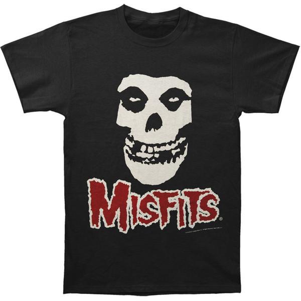 Misfits мужская Дьявол череп Красный логотип мужская тройник Slim Fit футболка черный смешной подарок с коротким рукавом футболки топы шею тройники