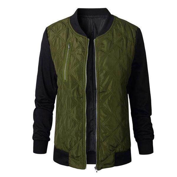 Fashion Autumn Winter Women Bomber Jacket Parkas Cool Zipper Down Jackets Coats Streetwear Patchwork Biker Outwear Hip Hop Style