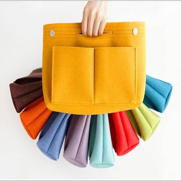 Inner Bag Women's Handbag Organizer Bag Purse Insert Bag Felt MultiPocket Tote Bags New for Ladies Travel Cosmetic Carry Pouch