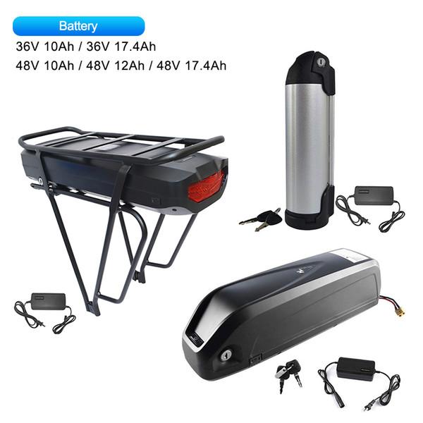 Ebike Lithium Batterie 36V 48V 10 12 17.5Ah Sumsang Zelle Mit Ladegerät Für Mid Hub Motor 250 Watt 500 Watt 750 Watt 1000 Watt Bafang Mid Electric Bicycle Kits