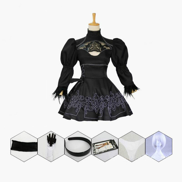 Nier Automata Cosplay Costume Yorha 2B Sexy Outfit Giochi Suit Women Role Play Costumi Ragazze Trendy Abbigliamento Halloween Party Fancy Dress