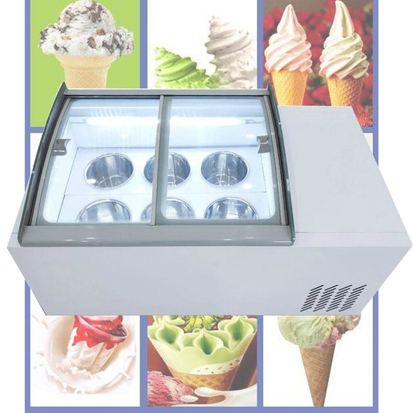 best selling New ice porridge cabinet commercial ice cream display cabinet for cold drinks shop store supermarket ice cream display cabinet