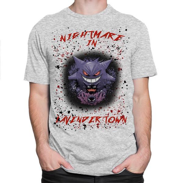 Create T Shirt Online Short Nightmare In Lavender Town Mens Tee Gengar Haunter Gastly T-shirt S - 3xl Crew Neck Printed