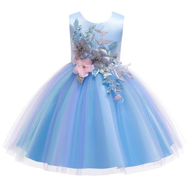 Compre Niños Princesa Fiesta Niños Vestidos Para Niñas Pastel Tutú Encaje Flor Niñas 1 12 Años Ropa Para Niñas Bebés Niños Vestido De Fiesta De Boda A