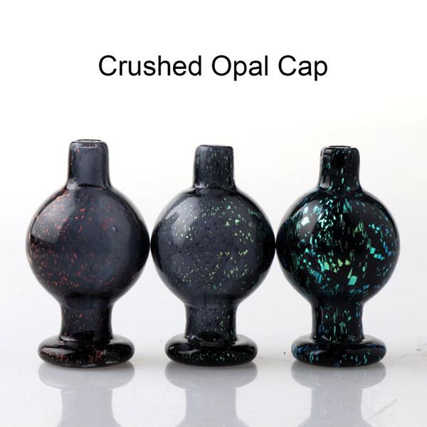 Bouchon à bulles opale broyé Heady en verre Bouchon à glucides en verre Accessoires de tabagisme pour bord biseauté Quartz Banger Bongs en verre à ongles Dab Rigs tuyaux d'eau