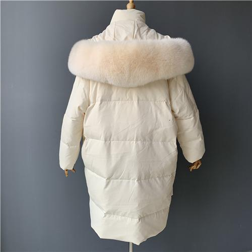 Cream fox fur match