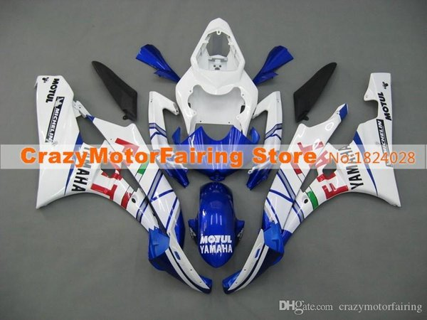 3 Free gifts New Injection ABS Fairing Kits 100% Fitment For YAMAHA YZF-R6 06-07 YZF600 2006 2007 R6 bodywork set blue red FIAT nice