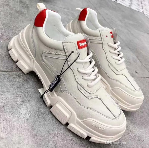 Nuevo diseñador de moda de lujo zapatos casuales Zapatos de deslizamiento inferiores gruesos Zapatillas de running Cómodo Joker 5A nb: 94