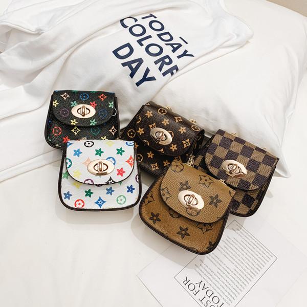INS Baby Girls mini handbag floral plaid kids princess messenger bag fashion children chian single shoulder bags Change Purse Z01