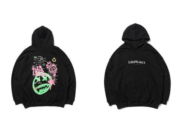 Graffiti Pillen und Tränke Drucken mit Kapuze Sweatshirts Hip Hop Street beiläufige Art und Weise Pullover Tops