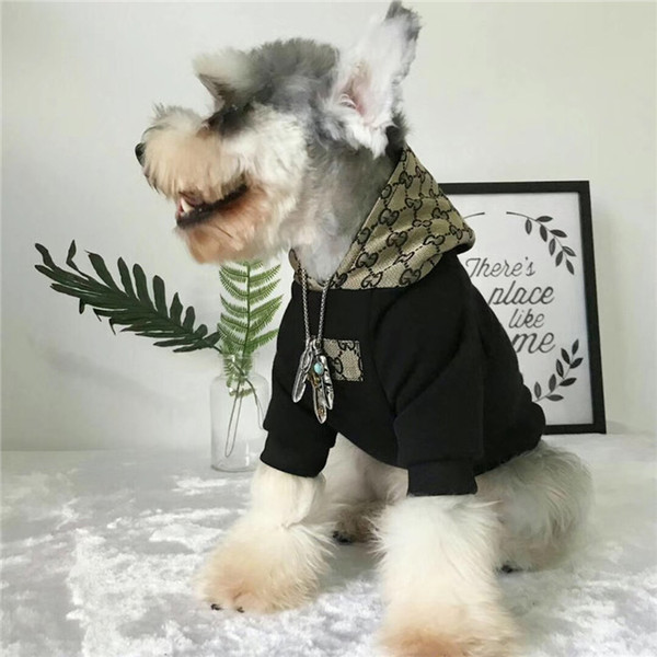Dog fa hion hoodie fa hion printing port jumper winter t hirt pet apparel chnauzer and teddy pet thick fleece winter clothe whith hat