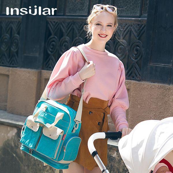 Nova Marca Bebê Fralda De Enfermagem Fralda Sacos de retalhos de Maternidade Bolsas Grande Desinger Mommy Mochilas Sacos de Viagem Ao Ar Livre Organizador de Viagem