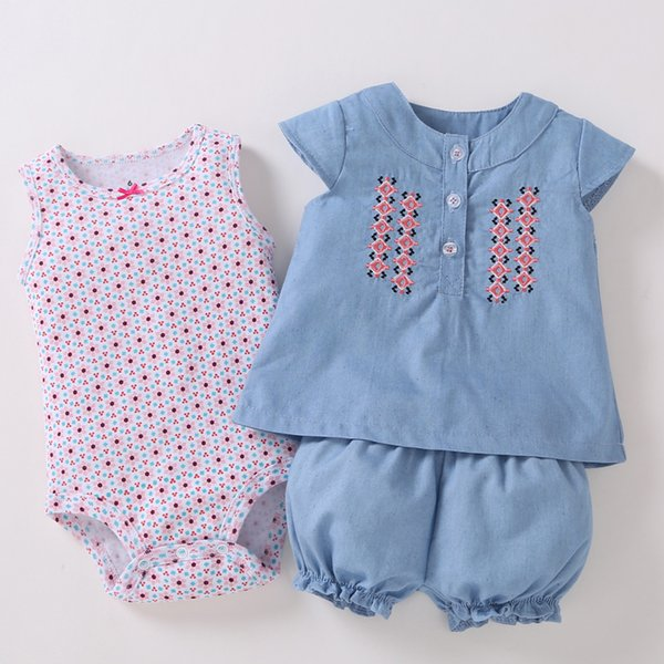 2019 Promotion New Arrival O-neck Novelty Baby Girls Boys And Girls Summer Clothing Style Clothes Fall Newborn Baby Romper Suit Y19050801