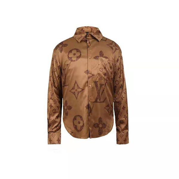 brand new Mens Fashion Clothing New Designer Shirt Color Pattern Print Slim Men's Casual Shirt Ms. Medusa Dress Tops
