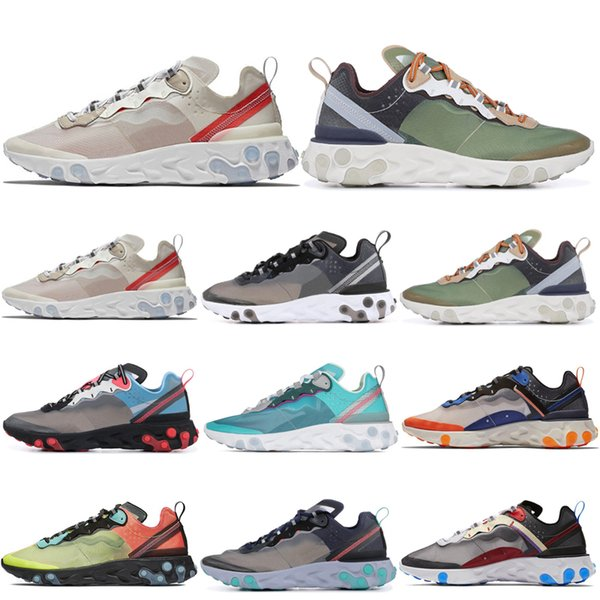React Element 87 Undercover Running Shoes for Men Women Royal Tint Anthracite Light Orewood Brown Mens Trainer Sports Sneakers 36-45