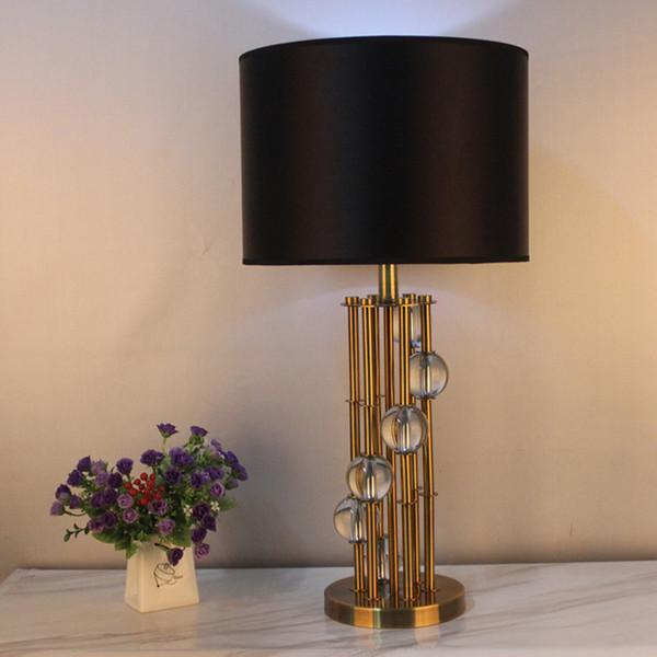 Acquista Lampade Moderne Da Soggiorno In Stile Europeo Con Lampada Da  Tavolo Nera A $322.55 Dal Amarylly | DHgate.Com
