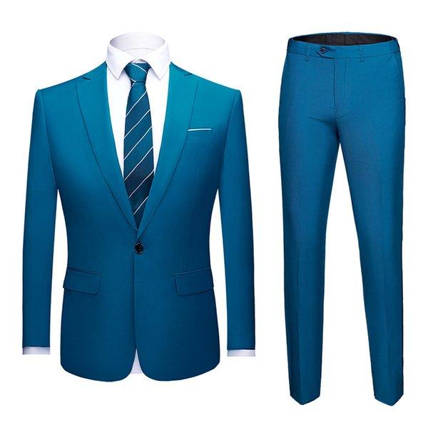 lake blue suit