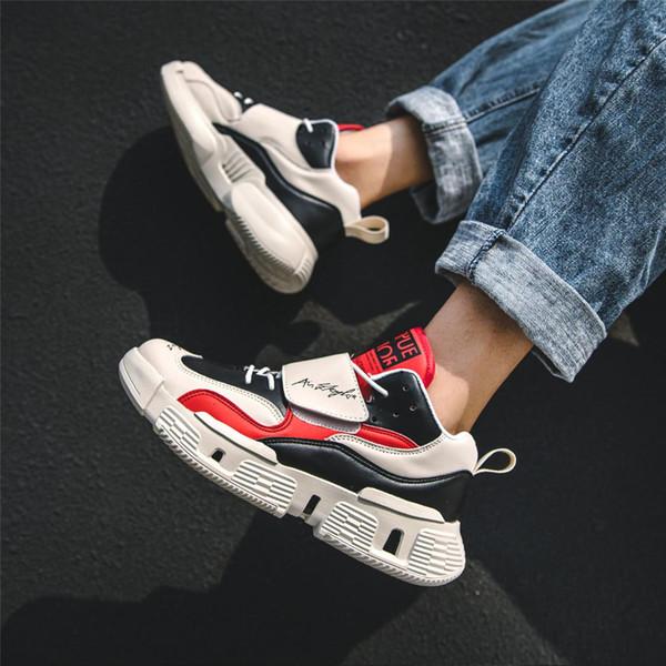 men spring shoes harajuku high platform