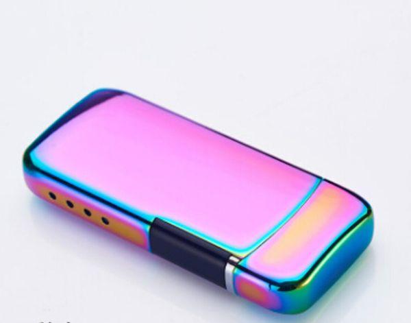 Laser Touch Induction Double Arc Lighter Carga USB Electronic Cigarette Lighter Nuevo estilo Metal Encendedores de tabaco