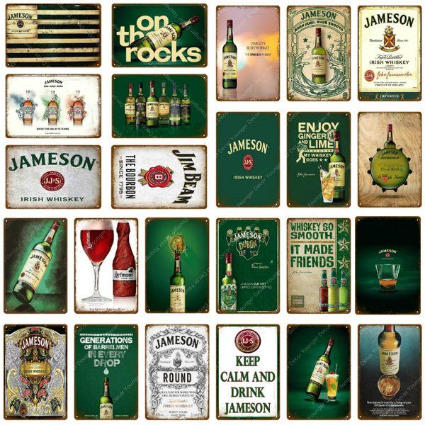 Metal Tin Sign jameson whisky Bar Pub Home Vintage Retro Poster Cafe