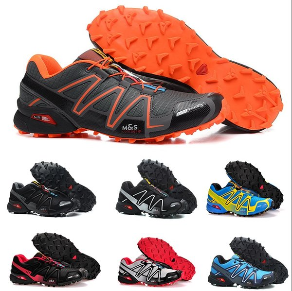 2019 2019 Speed Cross 3 CS III Running Shoes Black Silver Red Pink Blue Men Outdoor SpeedCross 3s Hiking Mens Sports Sneakers From Factory_350,