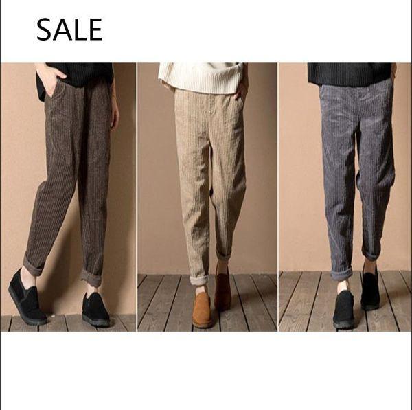 Women Harem Pants Loose Design Casual Style Capris Elastic Waist With Pocket Ladies Leisure Pants Spring
