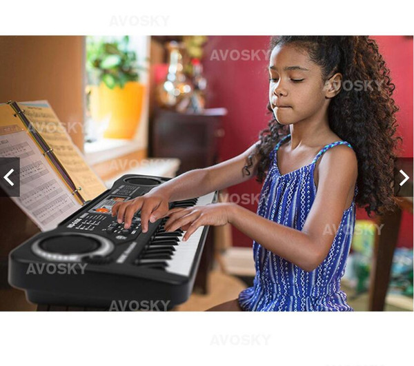 best selling For Children 61 Key Multifunction Digital Electronic Music Keyboard Electric Piano With Microphone Gift Free Shipping&Wholesales