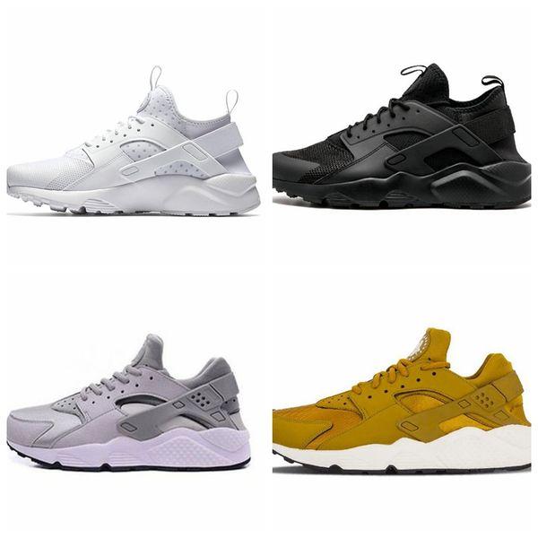 c5b2adf7749 2019 new Huarache 4.0 IV 1.0 senaker running shoes Triple white black  Huraches Running trainers men
